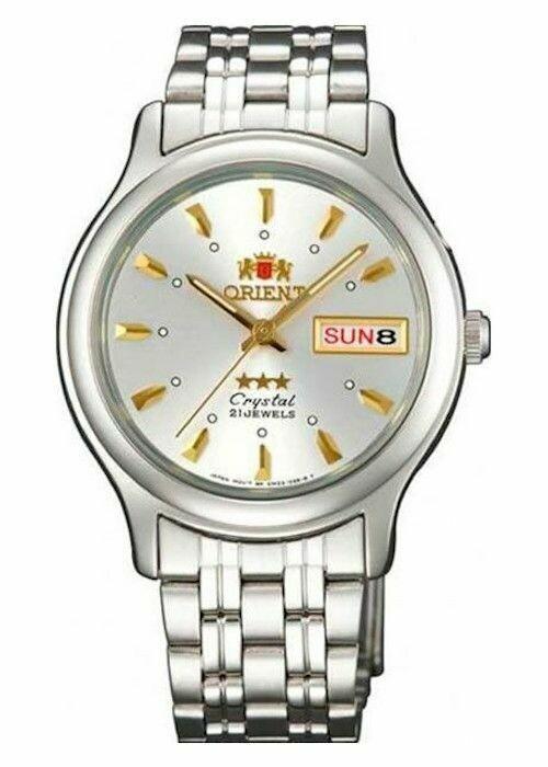 Reloj Automático Hombre Orient 3 Star FAB05007W correa acero