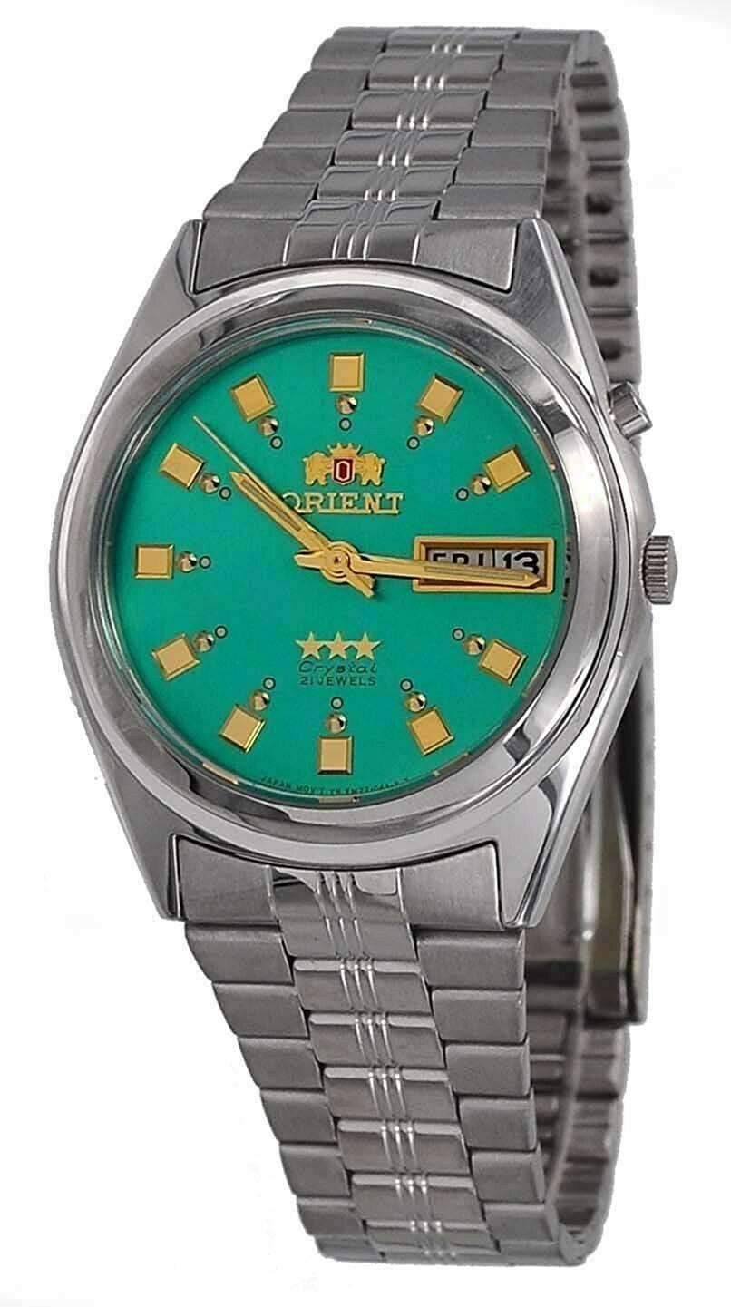 reloj hombre automático Orient Tristar FEM6Q00En verde acero