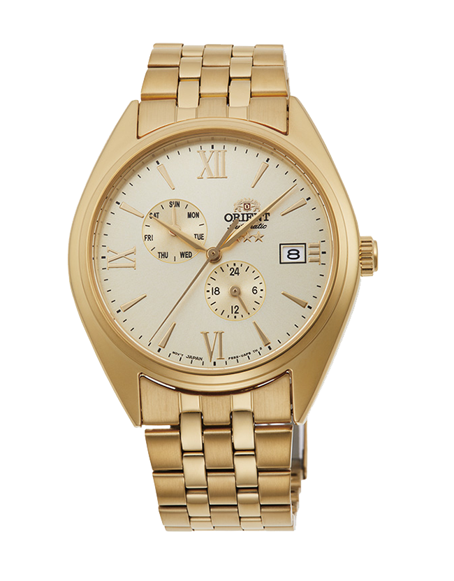 Reloj Hombre Automático Orient Altair Tristar RA-AK0502G Hand-Winding dorado