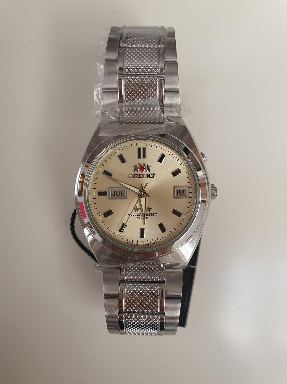 Reloj Automático Hombre Orient 3 Star FEM5L00NC correa acero