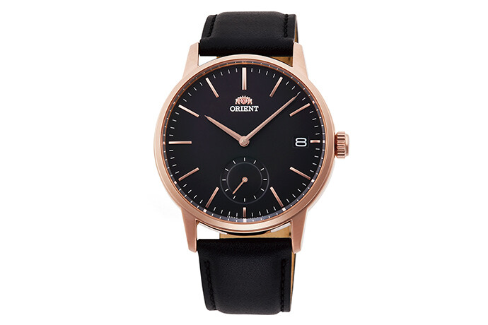 Reloj Hombre Orient Contemporary RA-SP0003B Cuarzo Rose Gold correa cuero