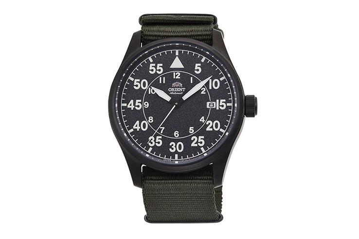 Reloj Automático Hombre Aviador Orient Pilot RA-AC0H02N 42.4mm correa tela