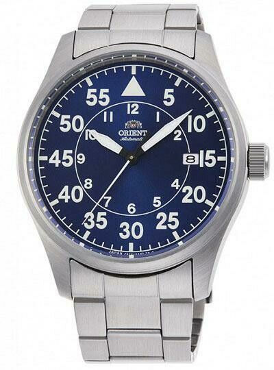 Reloj Automático Hombre Orient Pilot RA-AC0H01L 42.4mm correa acero