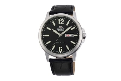 Reloj Automático Hombre Orient Commuter RA-AA0C04B dial negro correa cuero