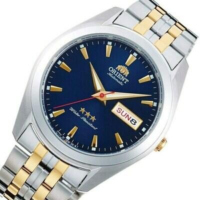 Reloj Automático Hombre Orient TriStar RA-AB0029L dial azul correa acero