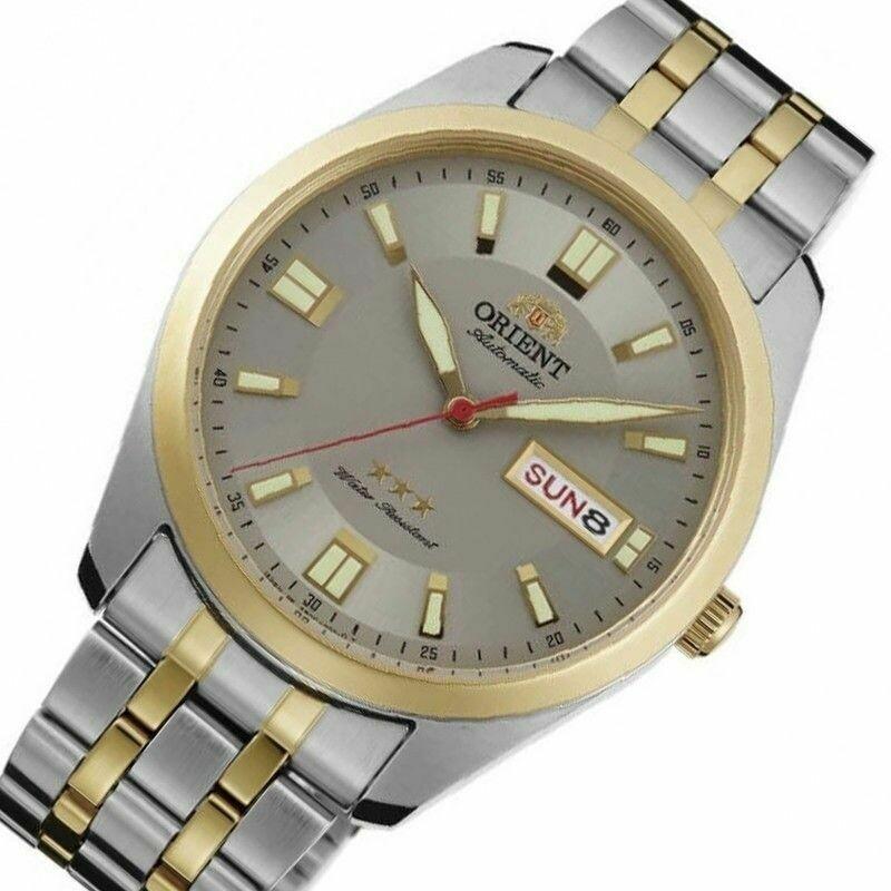 Reloj Automático Hombre Orient 3 Star RA-AB0027N gris correa acero
