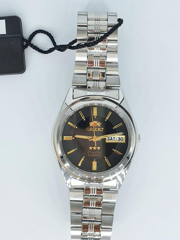 Reloj Automático Hombre Orient 3 Star FAB04002b correa acero