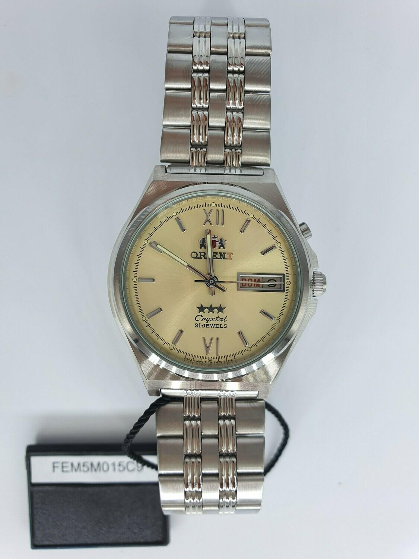 reloj hombre automático Orient 3 Star FEM5M015C dorado correa acero