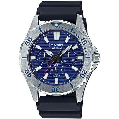 RELOJ Casio MTD-1086-2AV Men's Resin Band Multifunction