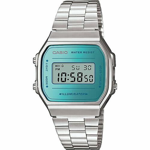 Reloj unisex digital Casio Retro A168WEM-2C cronografo