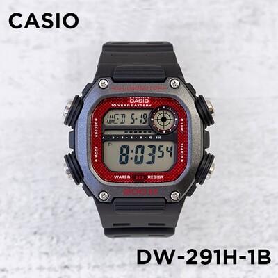 Reloj Deportivo Hombre Casio DW291H-1BV 10 años batería hora mundial 5 alarmas