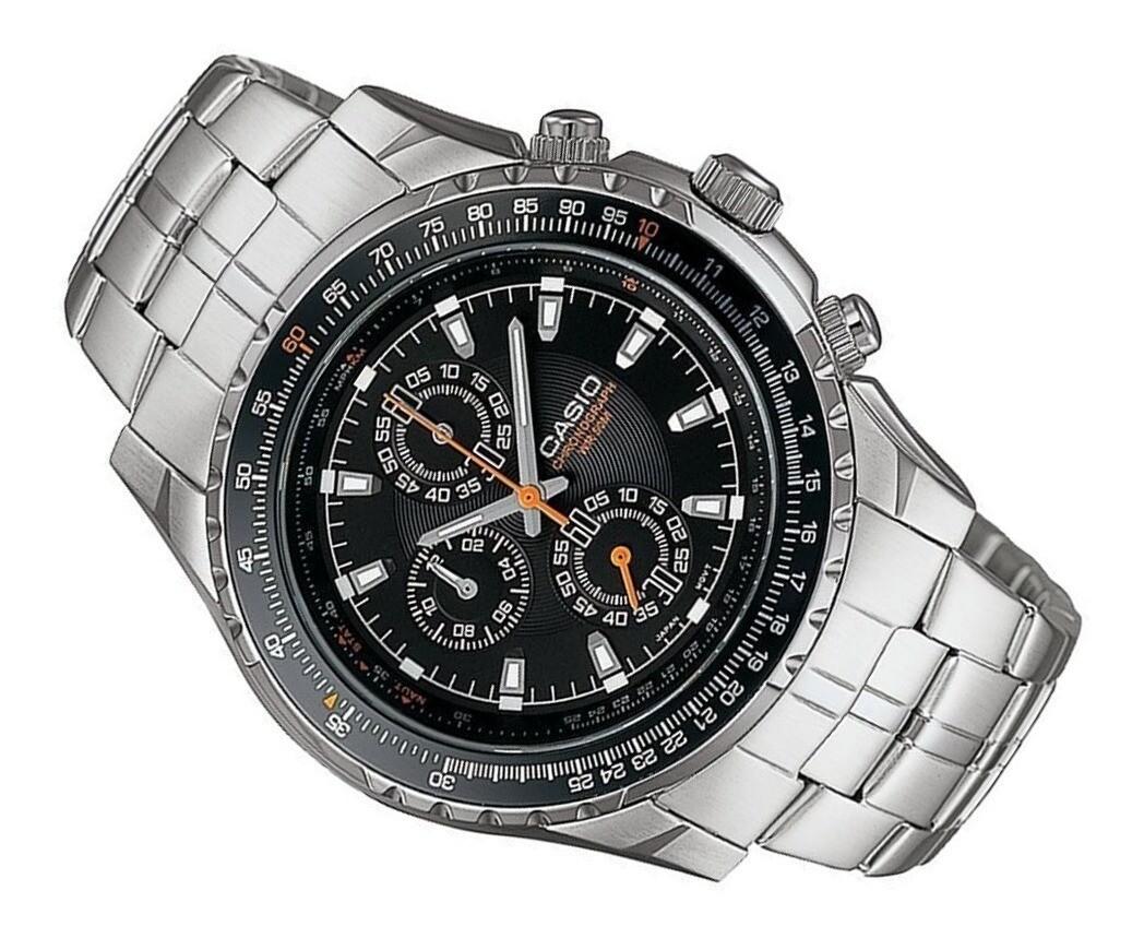 reloj  hombre Casio crono MTP-4500D-1A acero inoxidable