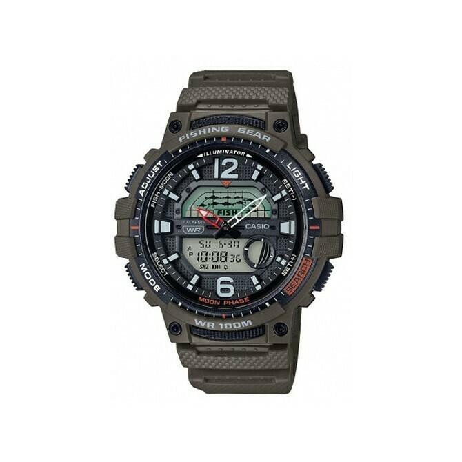 Reloj Hombre Pesca Casio WSC-1250H-3AVCF Fases Lunares