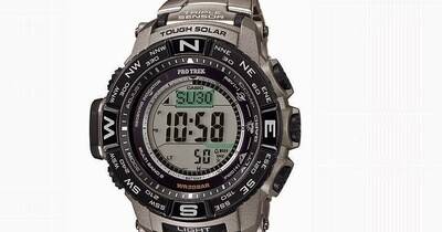 Reloj Hombre Titanio Solar Casio Pro Trek PRW-3500T-7 Men's Tough Solar Silver-Tone Titanium Band 56mm