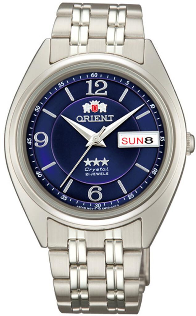 Reloj Automático Orient FAB0000ED dial azul correa acero