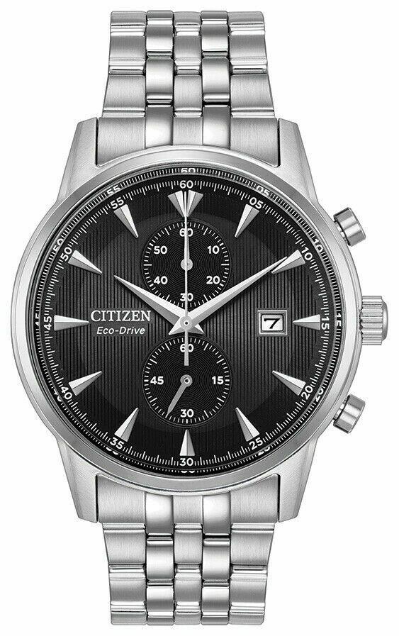 Reloj Hombre Citizen Eco-Drive CA7000-55E Corso Men's Chronograph Black Dial 43mm Watch