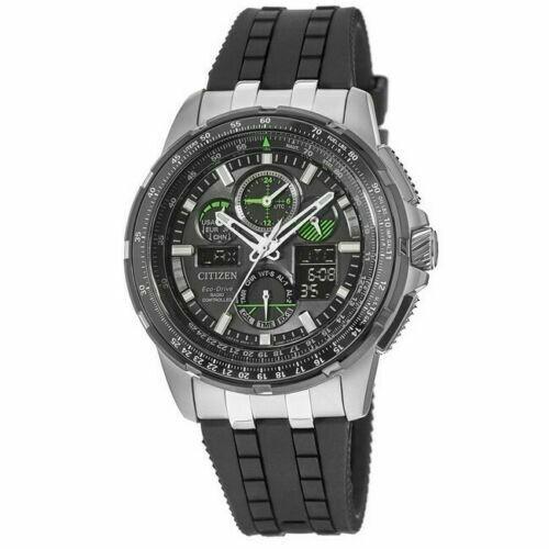 Reloj Hombre Citizen Promaster Skyhawk JY8051-08E A-T Black Dial Black Polyurethane Strap Men's Watch
