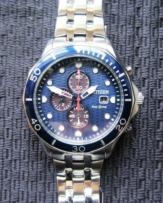 Reloj Hombre Citizen Eco-Drive CA0540-56L Men's Chronograph Blue Multi Dial 47mm Watch