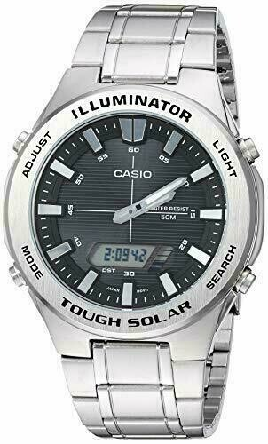 Reloj Hombre Casio TOUGH SOLAR AMW-S850D-1AV  acero hora mundial 5 alarmas