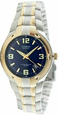 Reloj Hombre Casio Edifice EF-106SG-2A dial azul correa acero
