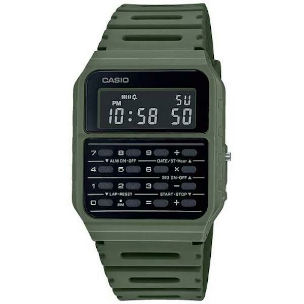 Reloj Casio Calculadora CA-53WF-3B verde
