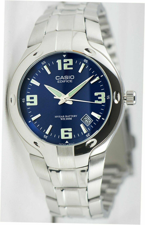 Reloj Hombre Casio Edifice EF-106D-2A dial azul correa acero