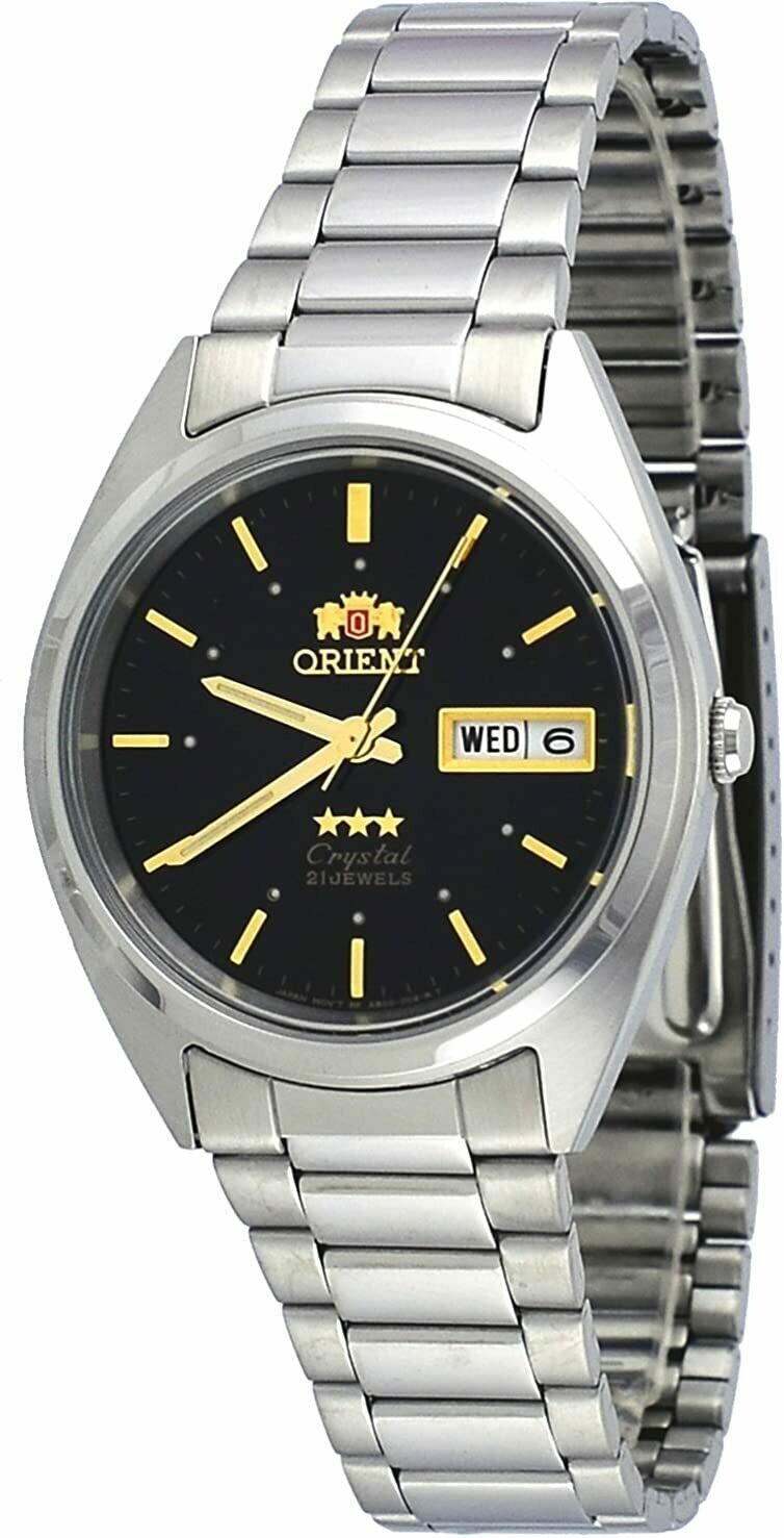 Reloj Análogico Orient 3 Star Fab00005b Hombre acero