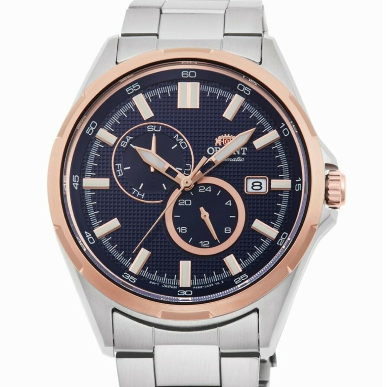 Reloj Automático Hombre Orient Defender RA-AK0601L Hand Hacking / Self-winding  rose gold tone blue dial