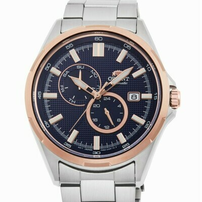 Reloj Automático Hombre Orient Defender RA-AK0601L Hand Hacking / Self-winding  rose gold tone blue dial