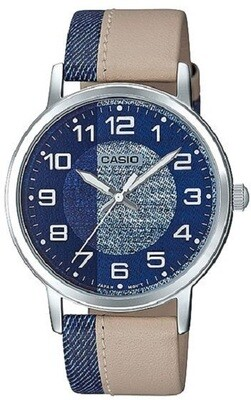 Reloj Casio  colection diseño jeans MTP-E159l-2b2 UNISEX
