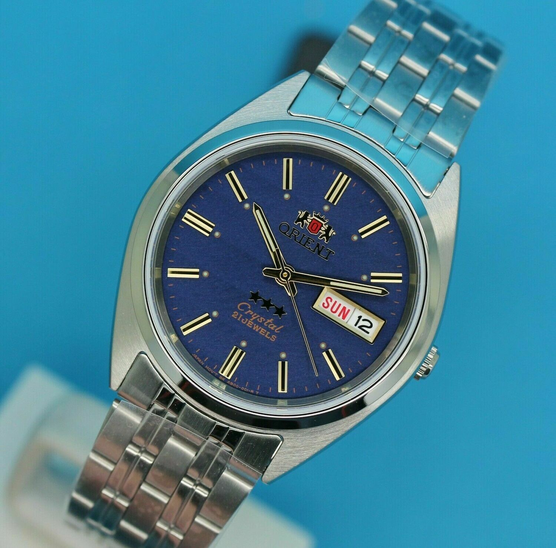 reloj hombre automático Orient Tristar FAB0000DD dial azul acero