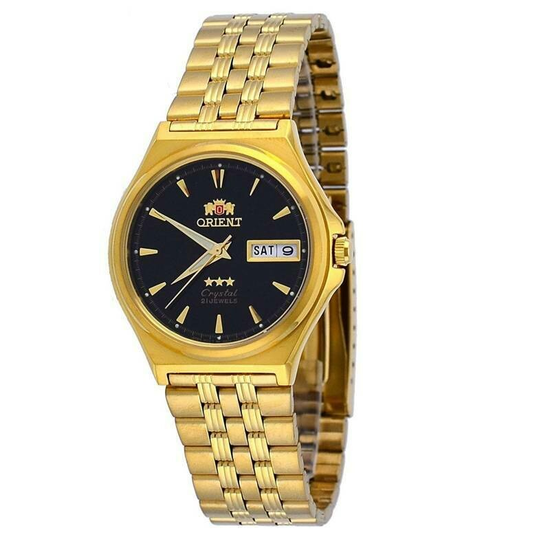 Reloj Automático Unisex Orient 3 Star FAB02001B9 dial negro