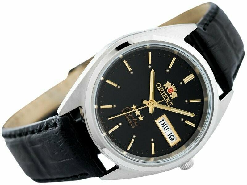 Reloj Automático Hombre Orient 3 Star FAB0000JB9 dial negro correa cuero