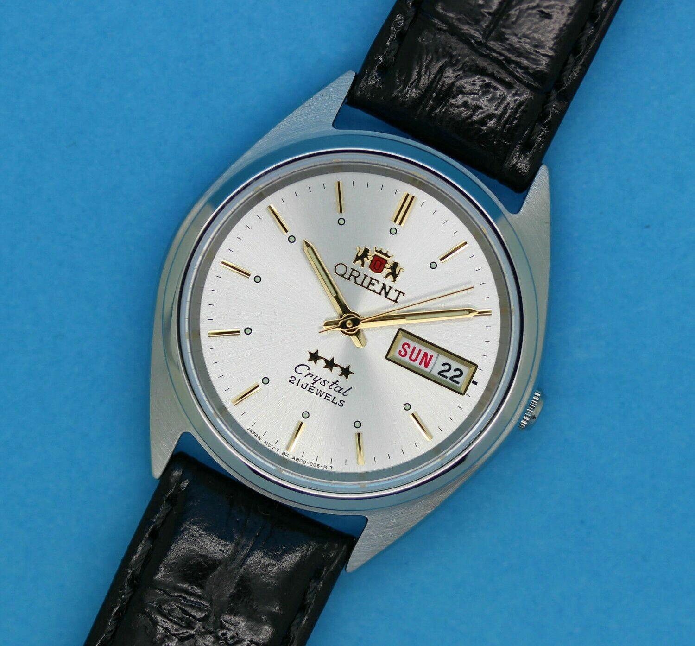 Reloj Automático Hombre Orient 3 Star FAB0000JW9 dial plateado correa cuero