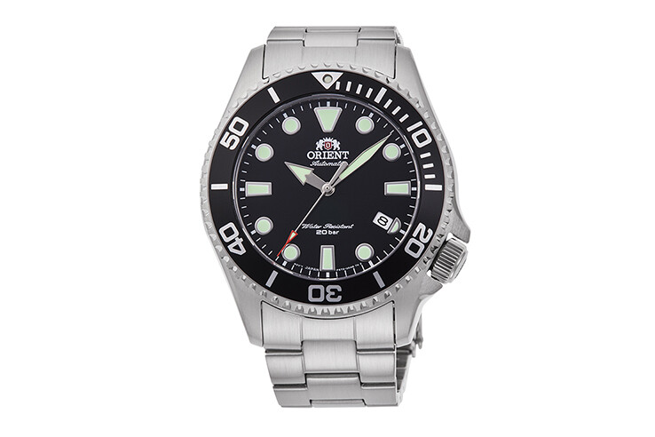 Reloj Automático Buceo Hombre Orient RA-AC0K01B cristal zafiro correa acero 70th Anniversary
