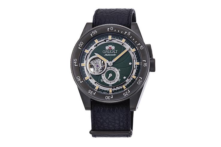 Reloj Automático Hombre Orient Revival Retro Future RA-AR0202E dial verde correa cuero