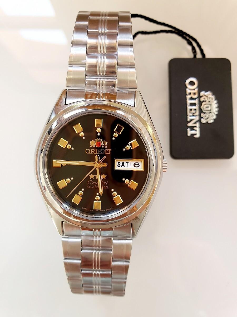 Reloj hombre automático Orient 3 Star FAB04003B NEGRO PLATA correa acero