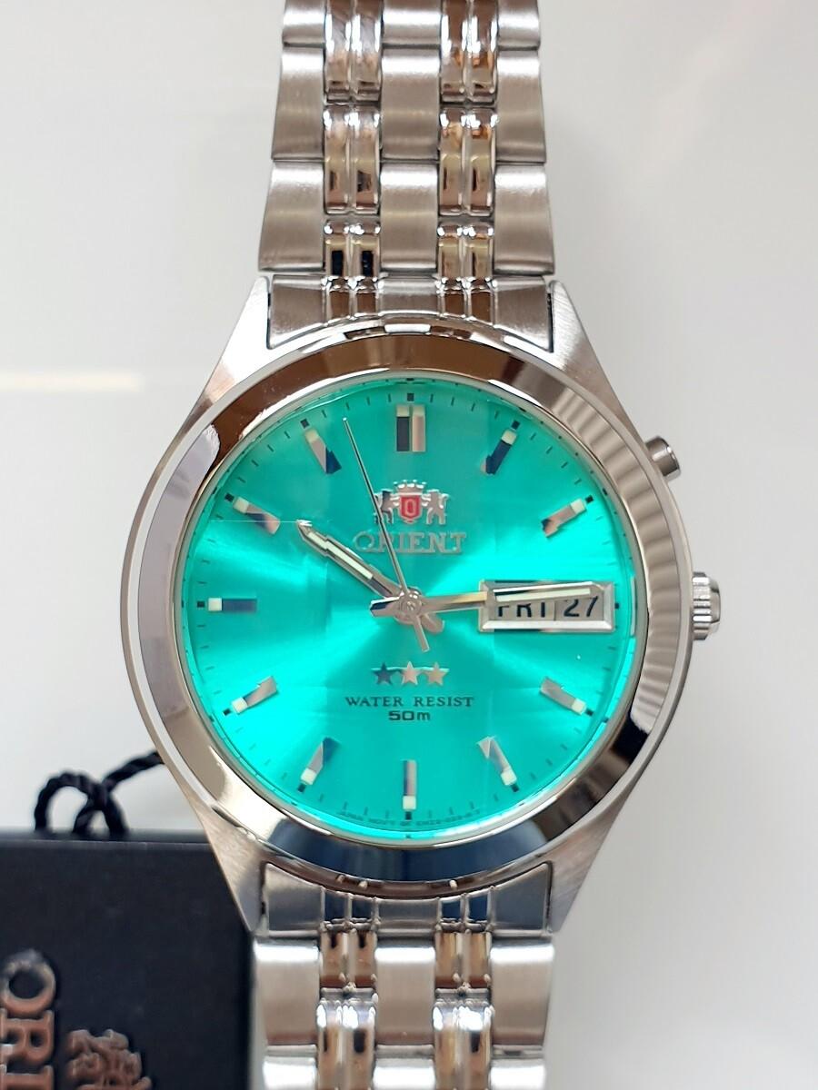reloj hombre automático Orient FEM5V002E green silver correa acero