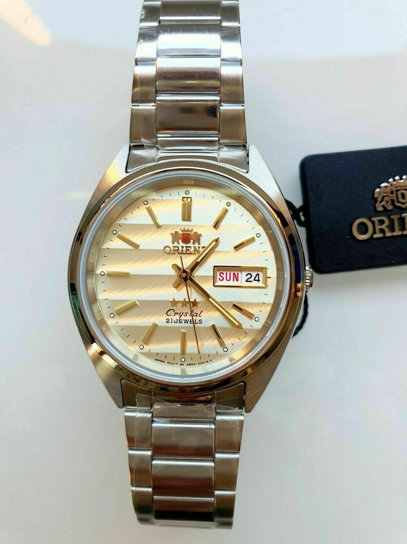 reloj hombre automático Orient Tristar FAB00007C beige gold