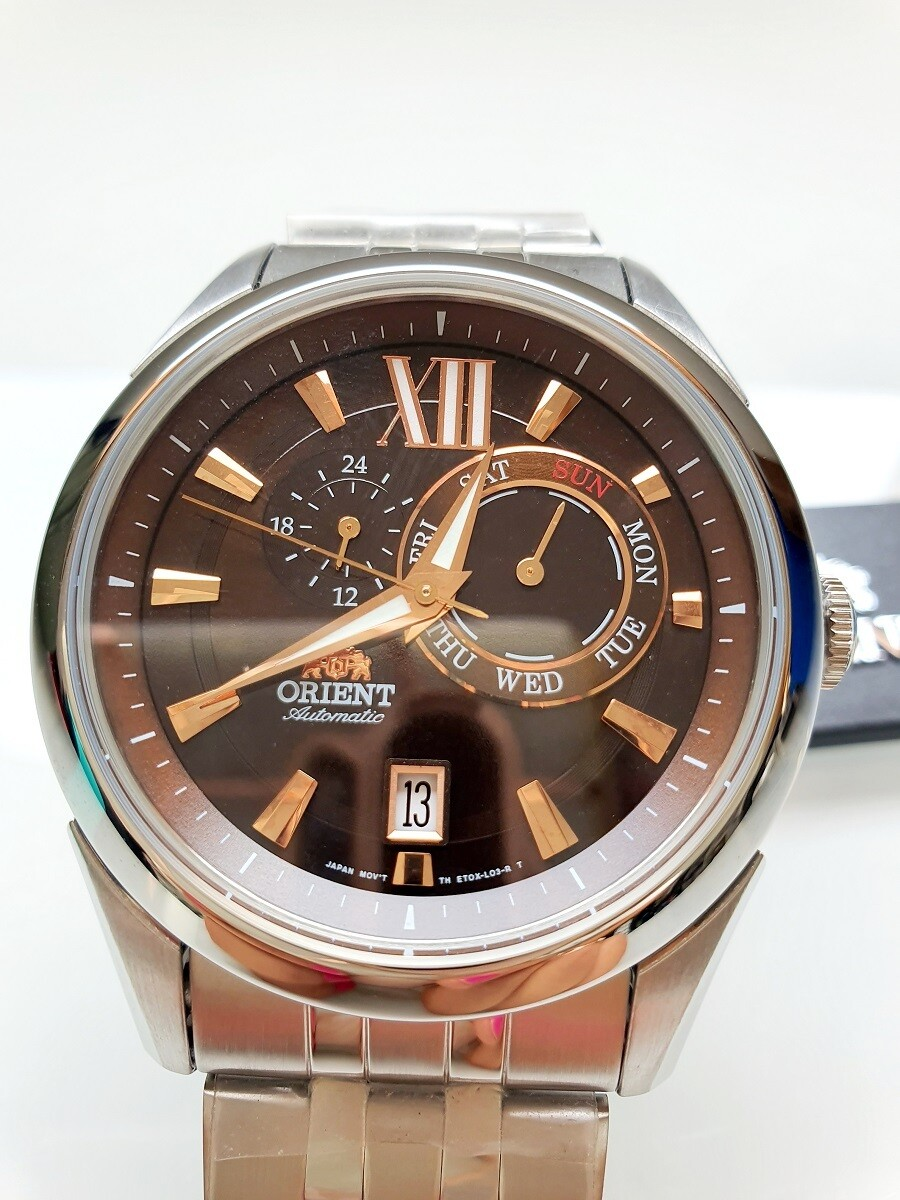 reloj hombre automático ORIENT FET0X003T acero chocolate