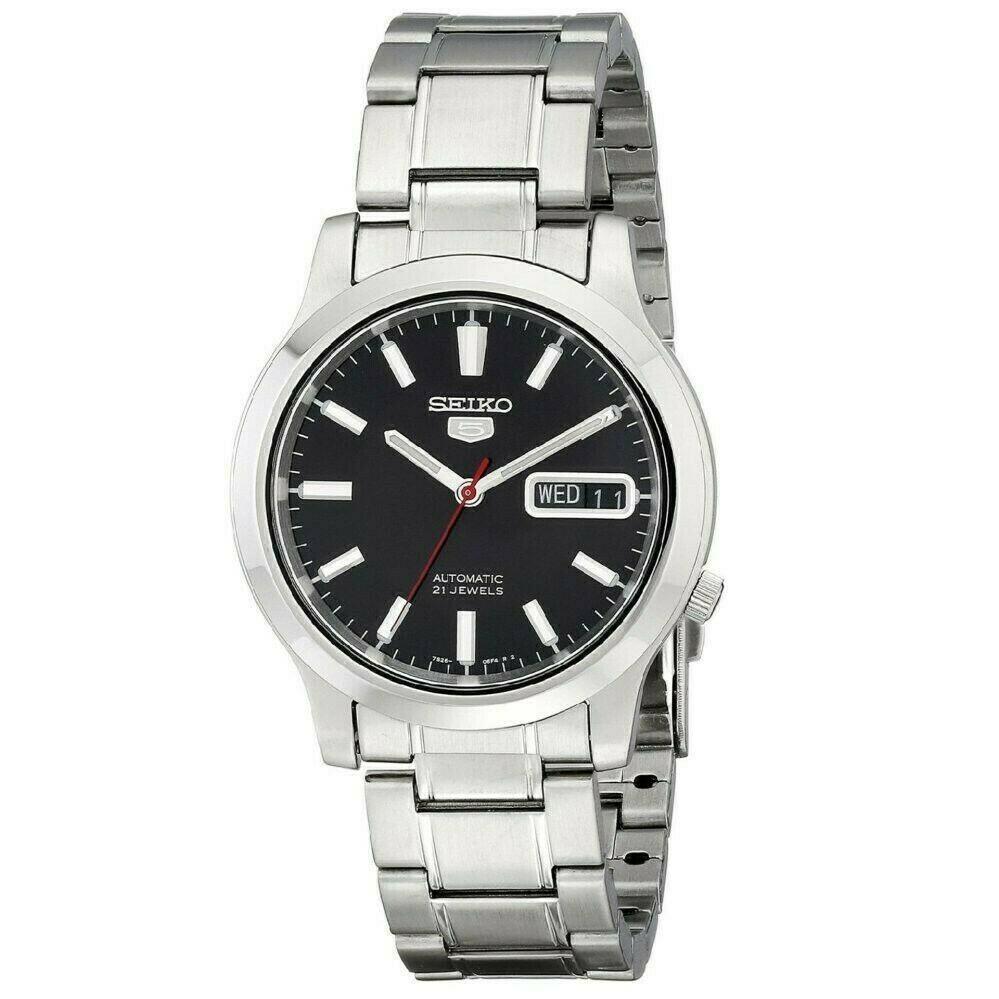 Reloj Automático Hombre Seiko 5 SNK795K1 dial negro acero inoxidable