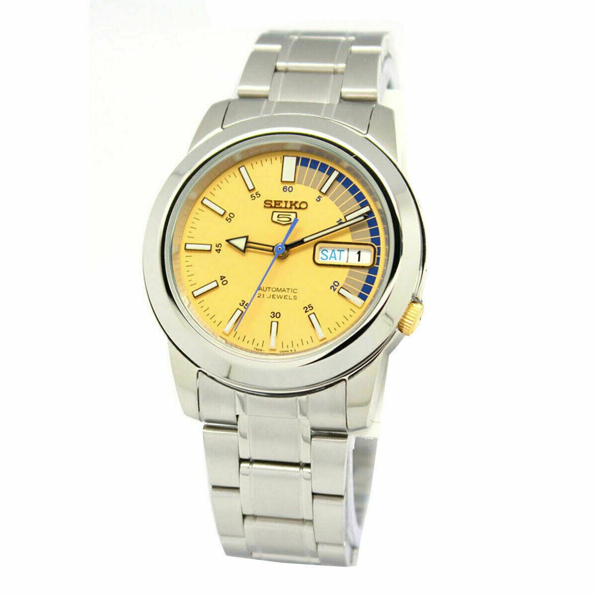 Reloj Automático Hombre Seiko 5 SNKK29K1 dial dorado correa acero