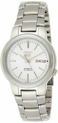 Reloj Automático Hombre Seiko 5 SNKA01K1 dial blanco acero