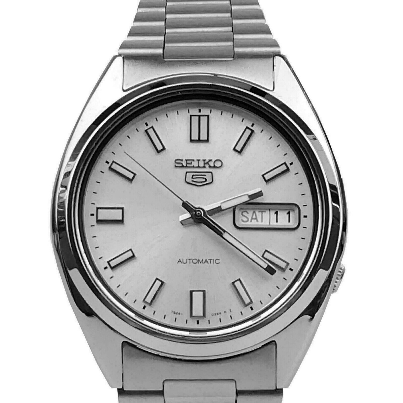 Reloj Automático Hombre Seiko 5 SNXS73K1 dial blanco correa acero