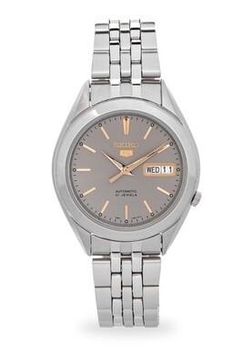 Reloj Automático Hombre Seiko 5 SNKL19K1 dial gris correa acero