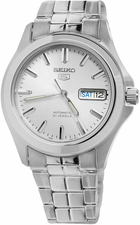 Reloj Automático Hombre Seiko 5 SNKK87K1 dial blanco correa acero
