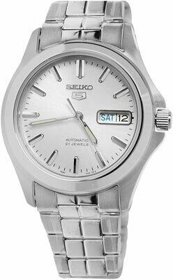 Reloj Automático Hombre Seiko 5 SNKK87K1 dial plata correa acero