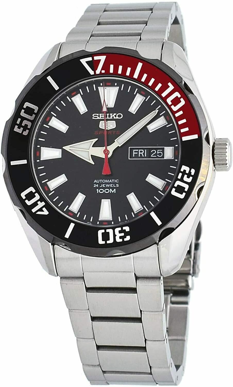 Reloj Automático Hombre Seiko 5 Sports SRPC57K1 dial negro acero