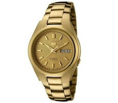 Reloj Automático Hombre Seiko 5 SNK610K1 dial dorado correa acero
