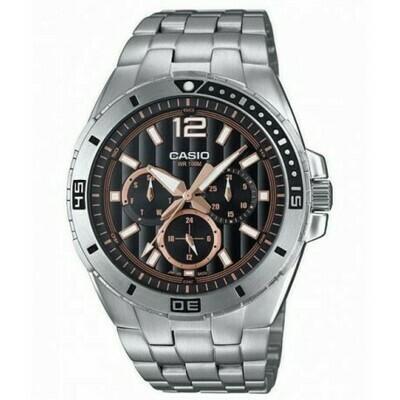 Reloj CASIO caballero MTD-1060D-1A3 correa de acero